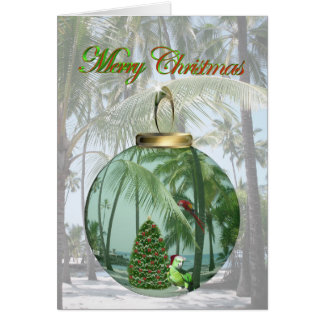 Tarjeta de Navidad tropical del pájaro