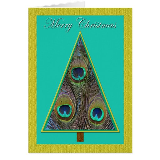 Tarjeta de Navidad única del árbol de navidad del
