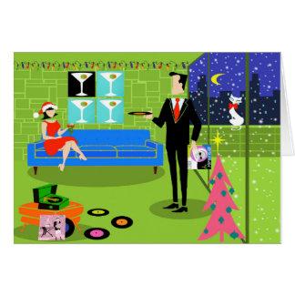 Tarjeta de Navidad urbana retra de los pares