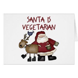 Tarjeta de Navidad vegetariana divertida