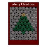 Tarjeta de Navidad verde del árbol de la cáscara d