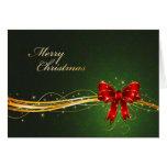 Tarjeta de Navidad verde elegante