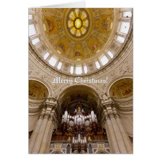 Tarjeta de Navidad vertical de la catedral de