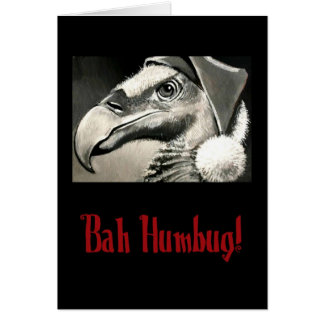 Tarjeta de Navidad vieja del halcón