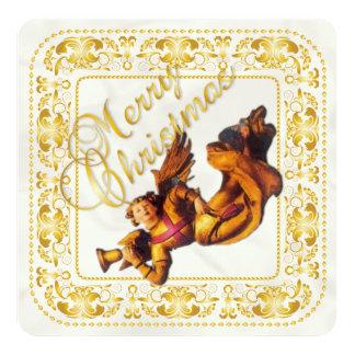 """Tarjeta de Navidad y tarjeta del ornamento 2 del Invitación 5.25"""" X 5.25"""""""