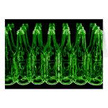 Tarjeta de neón de las botellas de cerveza