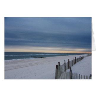 Tarjeta de New Jersey de la isla de Long Beach