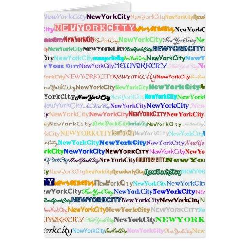 Tarjeta de New York City