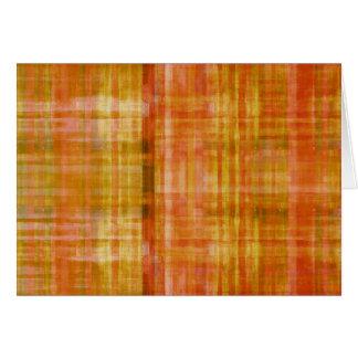 Tarjeta de nota abstracta de color naranja del art