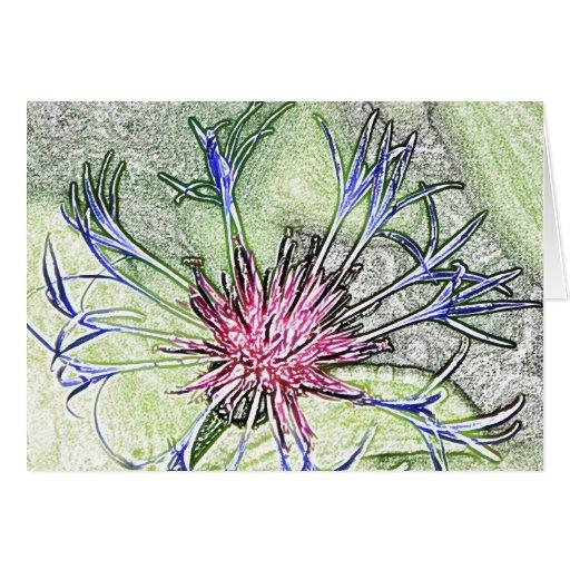 Tarjeta de nota adaptable de la flor de la estrell