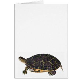 Tarjeta de nota adorable de la tortuga