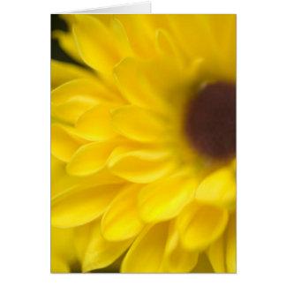 Tarjeta de nota amarilla