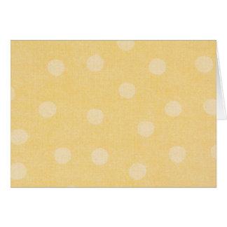 Tarjeta de nota amarilla del punto