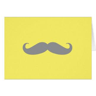 Tarjeta de nota - amarillo con el bigote gris