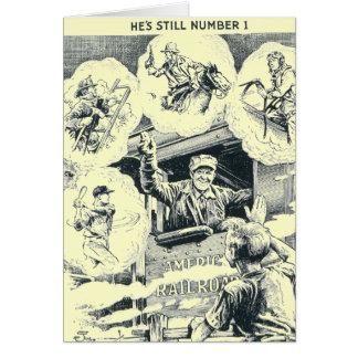 Tarjeta de nota americana del ingeniero del tren
