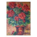 Tarjeta de nota Ana Hayes que pinta belleza roja