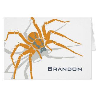Tarjeta de nota - araña