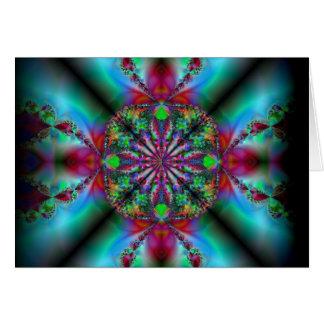 tarjeta de nota asombrosa del arte del fractal del