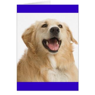 Tarjeta de nota azul del espacio en blanco del