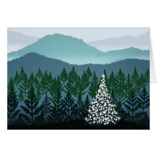 Tarjeta de nota azul del navidad de Ridge
