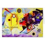 Tarjeta de nota azul roja amarilla de Kandinsky