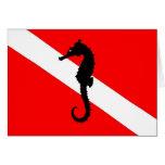 tarjeta de nota - bandera de la zambullida del sea