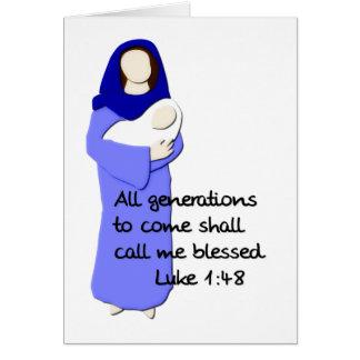 Tarjeta de nota bendecida del Virgen María