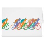 Tarjeta de nota Biking