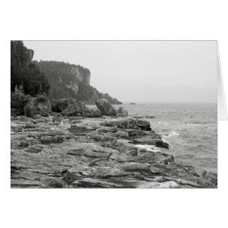 Tarjeta de nota blanco y negro de la foto de la lí