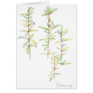 Tarjeta de nota botánica del espacio en blanco del