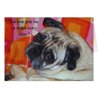Tarjeta de nota canina de la manipulación