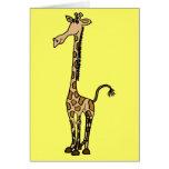 Tarjeta de nota caprichosa de la jirafa AW o