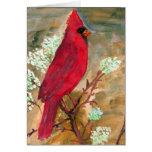 Tarjeta de nota cardinal