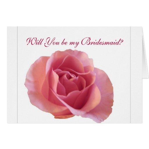 Tarjeta de nota color de rosa preciosa de la dama