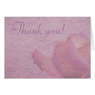 Tarjeta de nota color de rosa rosada del pergamino