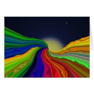 Tarjeta de nota cósmica del arte abstracto de los