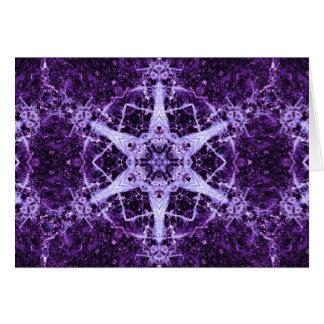 Tarjeta de nota cristalina púrpura de la joya