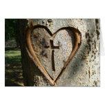 Tarjeta de nota cristiana del árbol