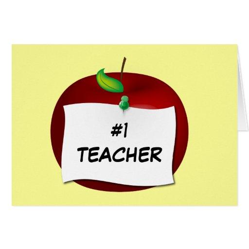 Tarjeta de nota de Apple del profesor #1