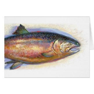 Tarjeta de nota de color salmón