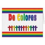 Tarjeta de nota de De que marcha Colores Crosses
