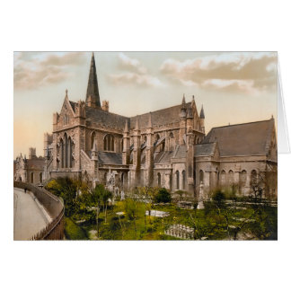Tarjeta de nota de Dublín Irlanda de la catedral