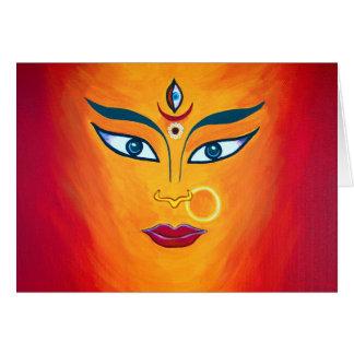 Tarjeta de nota de Durga de la diosa
