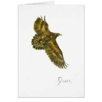 Tarjeta de nota de Eagle de oro