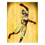 Tarjeta de nota de Fielfer del béisbol del vintage Postal