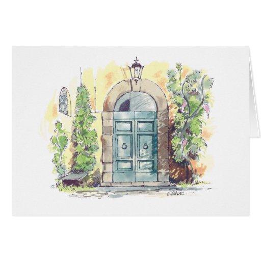 Tarjeta de nota de Florencia de la puerta del chal