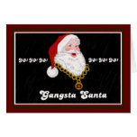 Tarjeta de nota de Gangsta Santa