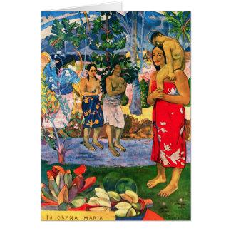 Tarjeta de nota de Gauguin Ia Orana Maria
