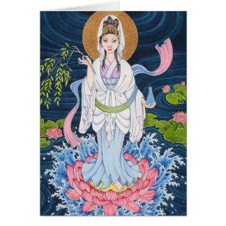 Tarjeta de nota de Guan Yin