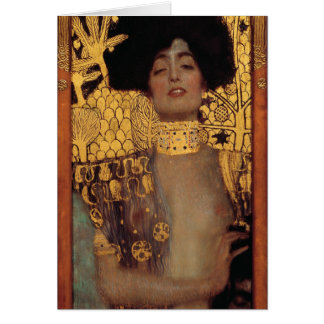 Tarjeta de nota de Gustavo Klimt Judith